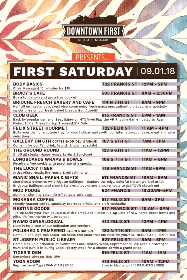 First Sat schedule